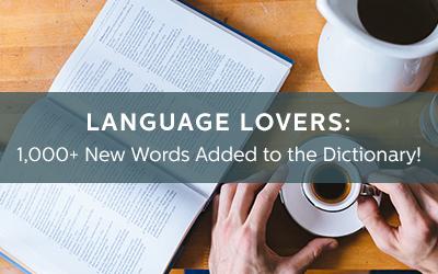 Merriam-Webster New Words Alert!
