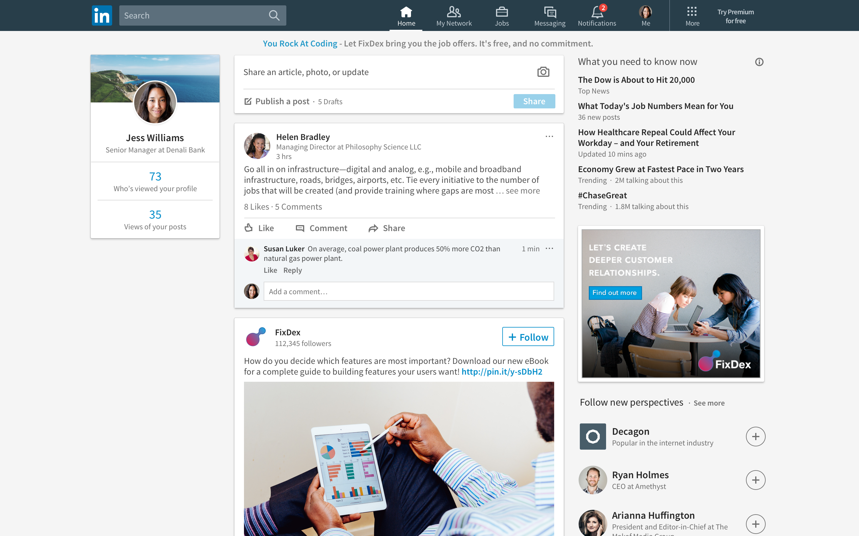 Understanding the New LinkedIn Layout | Dowitcher Designs