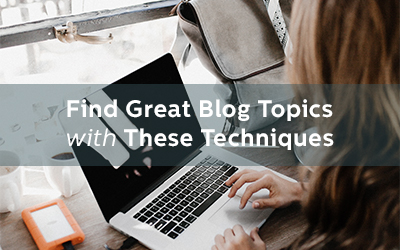 Desperately Searching For Blog Topics? Here's Where To Find Them