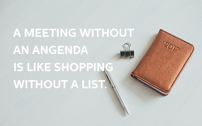 The Benefits of Writing a Meeting Agenda