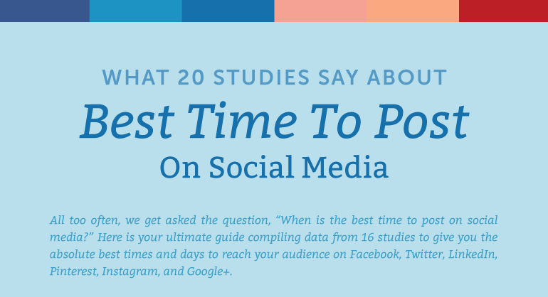New Data on the Best Times to Post on Social