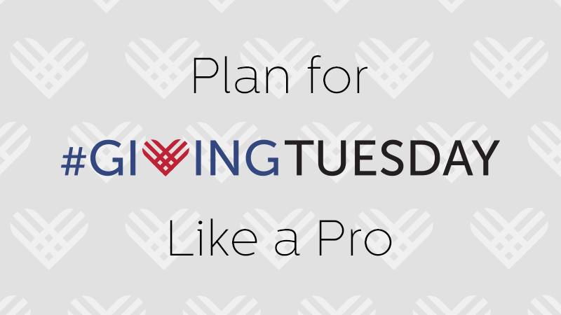 #GivingTuesday planning