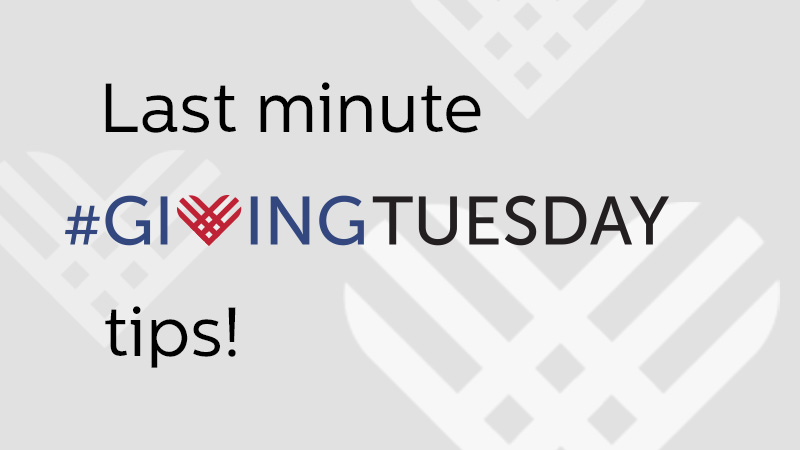 GivingTuesday tips