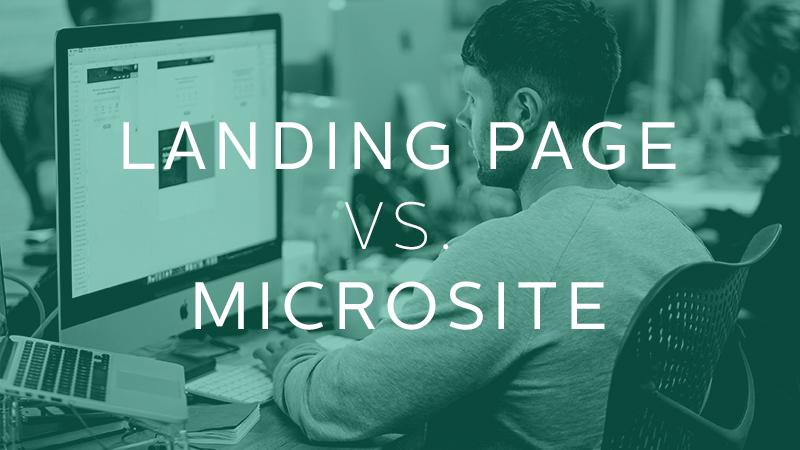 microsite và landing page